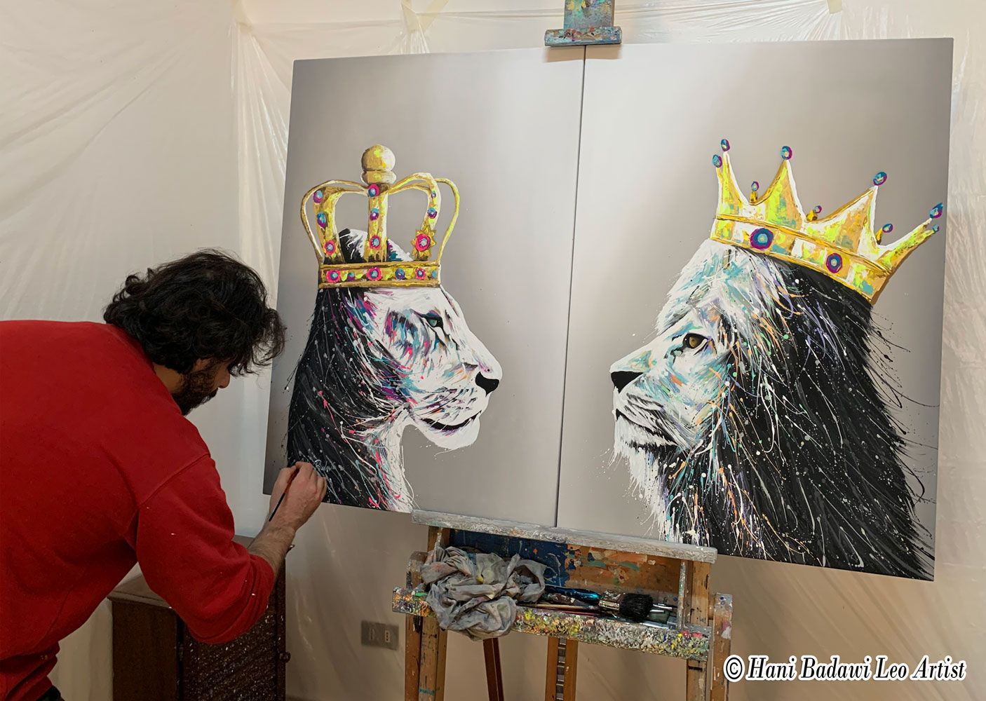 Lion and Lioness King & Queen